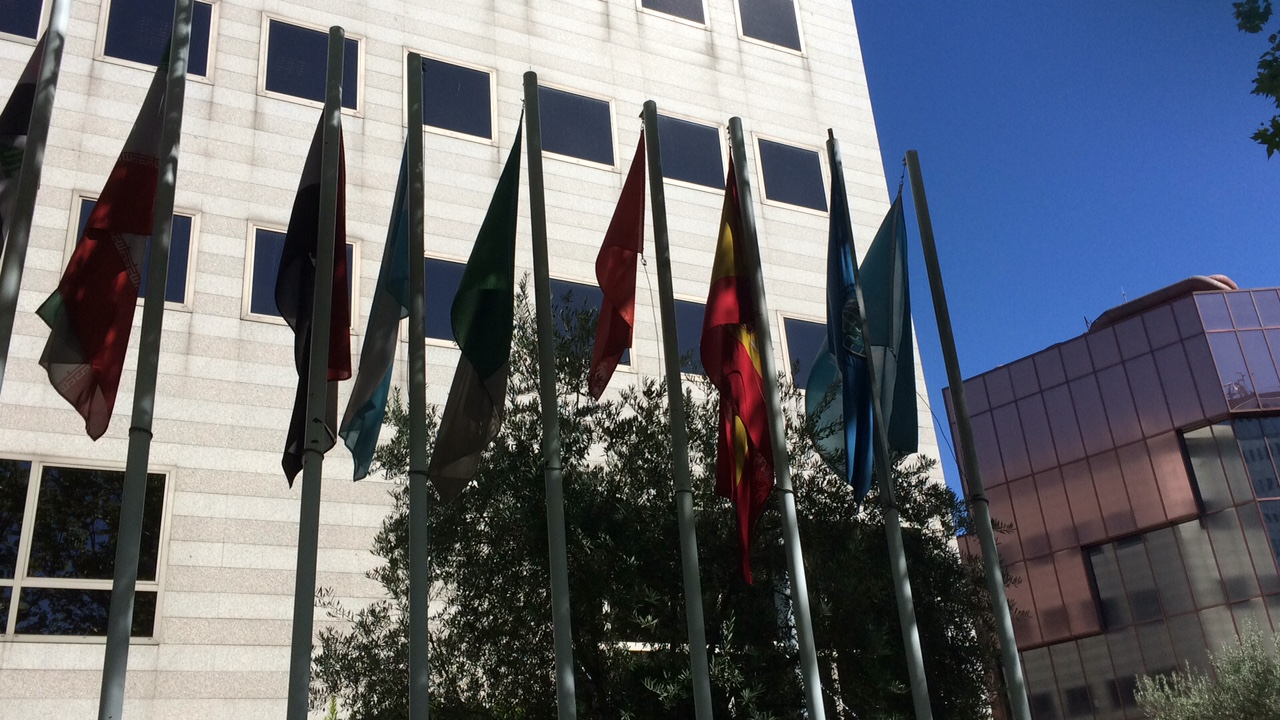 parvis COI drapeaux