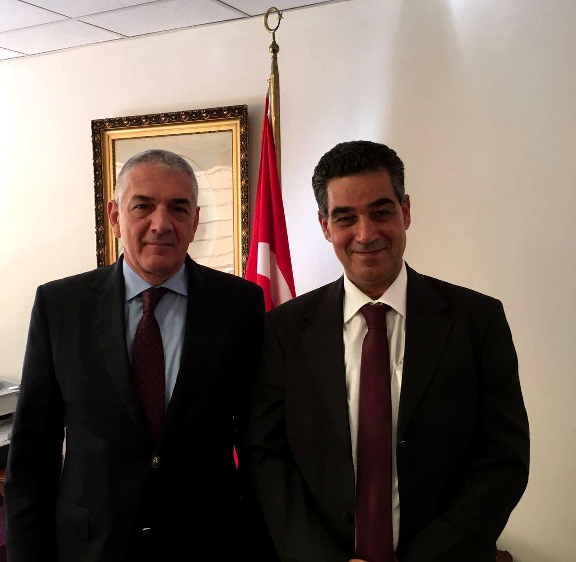 Ghedira y embajador turco