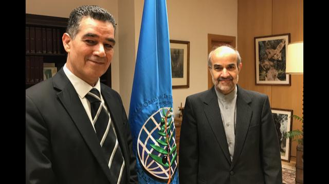 ghedira ed ambassador fFaifard Iran