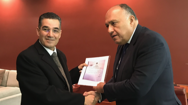 ghedira ed il ministro egiziano