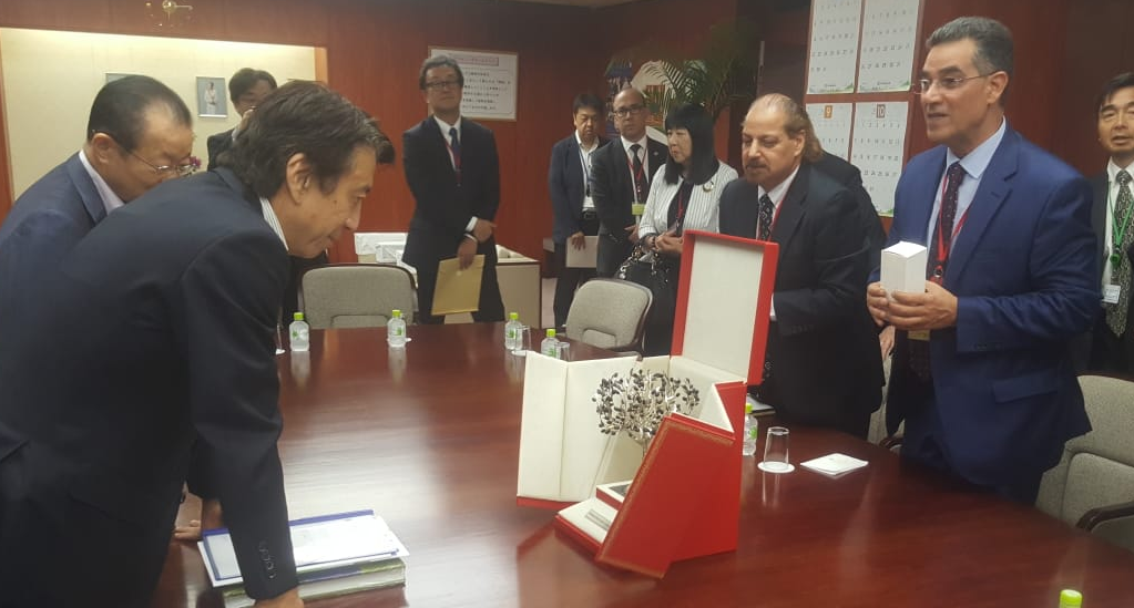 ministro Saito e Ghedira