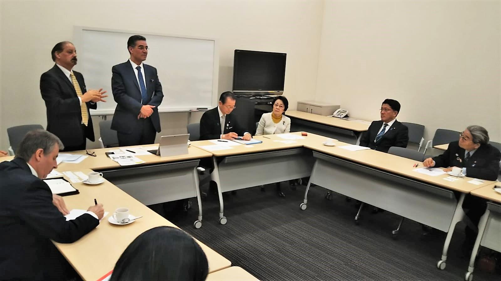 ghedira e parlamentari giapponesi